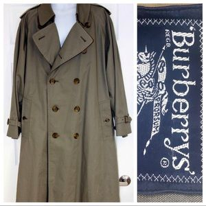 Burberry's London men's olive trench coat